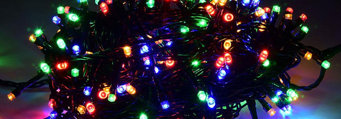 Bobine de guirlande LED multicolore destinée à l'éclairage extérieur décoratif
